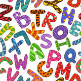 Modelo inconsútil con alfabeto colorido de los niños Fotografía de archivo