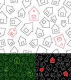 Modelo inconsútil con las casas Foto de archivo libre de regalías