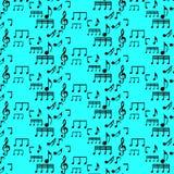 Modelo inconsútil con las notas de la música Fotos de archivo