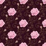 Modelo inconsútil con las rosas Imágenes de archivo libres de regalías