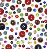 Modelo inconsútil con los botones Imagen de archivo libre de regalías