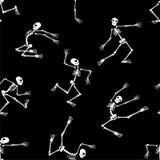 Modelo inconsútil con los esqueletos Fotografía de archivo