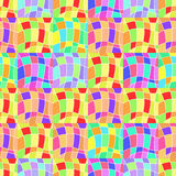 Modelo inconsútil con los pedazos coloreados Ilustración del vector Fotografía de archivo libre de regalías
