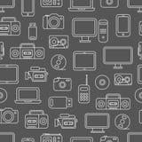Modelo inconsútil de diversos medios dispositivos Imagen de archivo libre de regalías