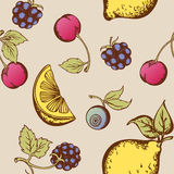 Modelo inconsútil de la fruta Fotos de archivo libres de regalías
