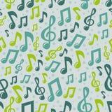 Modelo inconsútil de la música del vector con los iconos Foto de archivo