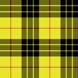 Modelo inconsútil de la tela escocesa de la textura de la tela de la falda escocesa del tartán de Macleod Imagen de archivo libre de regalías