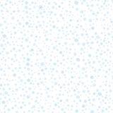 Modelo inconsútil de los copos de nieve Fotografía de archivo