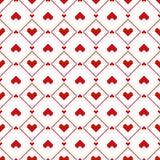 Modelo inconsútil de los corazones del pixel Fotos de archivo