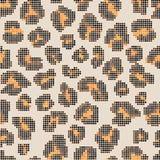 Modelo inconsútil de semitono del leopardo Fotografía de archivo libre de regalías