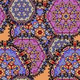 Modelo inconsútil del Arabesque Modelo inconsútil Foto de archivo libre de regalías
