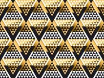 Modelo inconsútil del art déco geométrico de la forma del triángulo Fotos de archivo libres de regalías