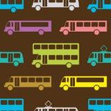 Modelo inconsútil del autobús retro Foto de archivo libre de regalías
