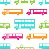 Modelo inconsútil del autobús retro Fotografía de archivo