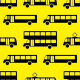 Modelo inconsútil del autobús retro Fotos de archivo libres de regalías