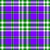 Modelo inconsútil del control del diamante de tartán de la tela verde púrpura de la tela escocesa Foto de archivo libre de regalías