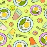 Modelo inconsútil del desayuno Imagen de archivo libre de regalías