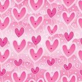 Modelo inconsútil del rosa del cielo de la caída del amor Fotografía de archivo libre de regalías