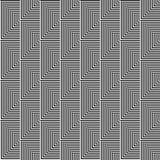 Modelo inconsútil del vector Fondo abstracto geométrico simétrico con las líneas y los triángulos en colores blancos y negros Imágenes de archivo libres de regalías