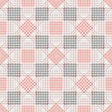 Modelo inconsútil del vector Fondo negro y rojo geométrico simétrico con el Rhombus, los cuadrados y las líneas Imagenes de archivo