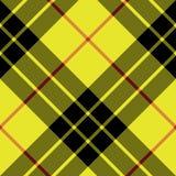 Modelo inconsútil diagonal de la tela escocesa de la textura de la tela de la falda escocesa del tartán de Macleod Foto de archivo