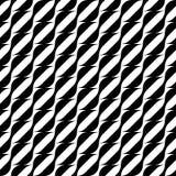 Modelo inconsútil geométrico blanco y negro con la línea ondulada de la raya Foto de archivo