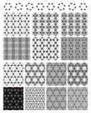 Modelo inconsútil negro determinado de la simetría del círculo del hexágono Imagen de archivo libre de regalías
