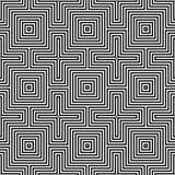 Modelo inconsútil óptico de illusion.geometric Fotografía de archivo