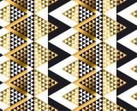 Modelo inconsútil tribal africano geométrico de la forma del triángulo Fotos de archivo libres de regalías