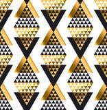 Modelo inconsútil tribal africano geométrico de la forma del triángulo Foto de archivo libre de regalías