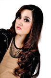Modelo indonésio bonito Foto de Stock Royalty Free