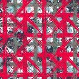 Modelo intrépido inconsútil de la tela escocesa del vector Fotografía de archivo