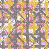 Modelo intrépido inconsútil de la tela escocesa del vector Imagen de archivo