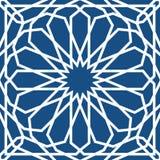 Modelo islámico azul Modelo geométrico árabe inconsútil, ornamento del este, ornamento indio, adorno persa, 3D endless libre illustration