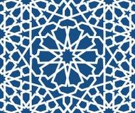 Modelo islámico azul Modelo geométrico árabe inconsútil, ornamento del este, ornamento indio, adorno persa, 3D endless ilustración del vector