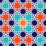 Modelo islámico geométrico inconsútil abstracto del papel pintado para su diseño Imagen de archivo