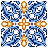 Modelo italiano de la baldosa cerámica Ornamento popular étnico ilustración del vector