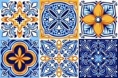Modelo italiano de la baldosa cerámica Ornamento popular étnico libre illustration