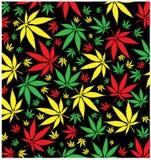 Modelo jamaicano de la marijuana ilustración del vector