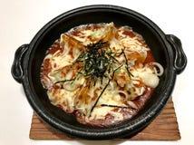 Modelo japonés de la comida en espacio imagenes de archivo