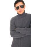 Modelo joven en el estilo 80 Foto de archivo