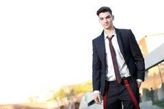 Modelo joven hermoso del varón de la manera Fotos de archivo libres de regalías