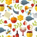 Modelo judío de Rosh Hashanah del Año Nuevo libre illustration