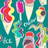Modelo jugoso de los conos de helado Imágenes de archivo libres de regalías