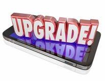 Modelo Latest Technology de la actualización del teléfono celular de la palabra de la mejora un más nuevo Imagenes de archivo