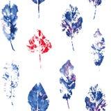 Modelo lindo de impresiones hermosas de hojas libre illustration