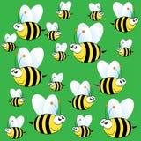 Modelo lindo de la abeja en fondo verde Fotografía de archivo