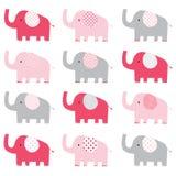 Modelo lindo del elefante rosado Fotos de archivo