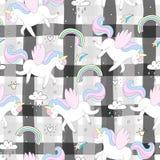 Modelo lindo del vector del unicornio Imagen de archivo libre de regalías