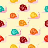 Modelo lindo inconsútil de los caracoles libre illustration